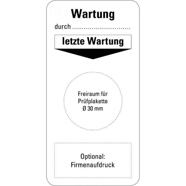 Grundplaketten - Wartung - 40x80 mm